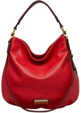 MARC JACOBS NEW Q HILLIER RED ITALIAN LEATHER LARGE HOBO SHOULDER BAG PURSE*NWT*