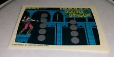 1989 Nintendo Of America How To Play Unused video game card Double Dragon #8 htf