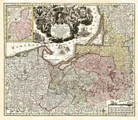 Ostpreussen 1740- Historische Karte (Reprint)