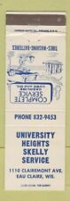 Matchbook Cover - University Heights Skelly oil gas Eau Claire WI