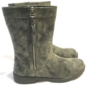 NEW WOMEN'S ROCKET DOG BOOTS SIZE 9 Marble Gray Quilted Vegan w/ Side Zippers