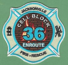 JACKSONVILLE FIRE DEPARTMENT FLORIDA STATION 36 COMPANY PATCH THE CELL BLOCK