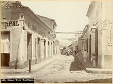 1898, J Murray Jordan, Santiago, CUBA, street SCENE, original photo 20.5x15.25cm