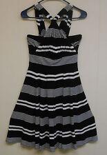 Mint! Women's White House Black Market Cinched Halter Dress, Black & White, 4.