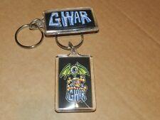 2x GWAR LOGO picture chain PLASTIC / Silver Key Chain New RAP / HIP HOP
