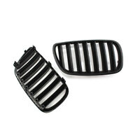 1 Pair Matte Black Front Kidney Grille Hood Grill For BMW E83 X3 2007-2010 2009