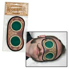 Steampunk Goggles Style Victorian Sci Fi Cogs Fabric Night Sleep Eye Mask