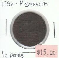 Great Britain Half Penny Token - 1796 Plymouth