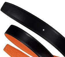 BNIB AUTHENTIC HERMES 32mm WIDE REVERSIBLE BELT KIT STRAP IN BLACK/ORANGE 105