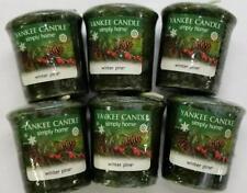Yankee Candle Votives: WINTER PINE Wax Melts Lot of 6 Green Wax New