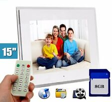 Cornice digitale hd 15 pollici con 8gb sd