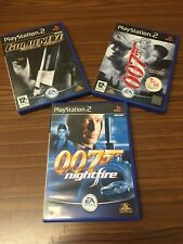 3x Ps2 Playstation 2 Games Bundle James Bond Rogue Agent Nightfire Sh2-023
