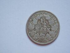 """½ Mark 1905 A /Deutschland-Germany Kaiserreich """"Goldmark""""/ Silver"""