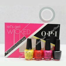 OPI Let's Get Wicked 2015 Mini Pack FREE Silver Metallic Nail Art Tape 4pc SRG92