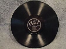 "78 RPM 10"" Record Dave Barbour Forever Paganini & Nicki Instrumental Capitol 358"