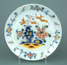 Fayence Teller Delft um 1760 Chinoiserie Pfannkuchenteller