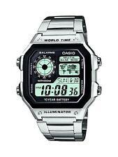 Casio Herrenuhr Herren Armbanduhr Digital Edelstahl Uhr Armband AE-1200WHD-1AVEF