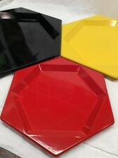 Toyo Mid Century Modern Nesting Tray 3pc Set Vintage Japan Lacquer Ware Octagon