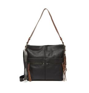 THE SAK COLLECTIVE Ashland Leather Shoulder Bag Leather Black Purse Handbag