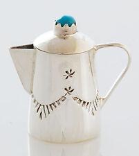 Sterling Silver Coffee Pot Native American Navajo Handmade Miniature