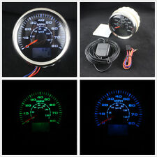 85mm LCD GPS Speedometer Odometer 0-80MPH 0-120KM/H Car Marine Boat Motorcycle