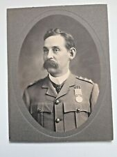 CAPT, BRITISH ARMY OFFICER (VICAR) PHOTO BOAR WAR WITH QSA MEDAL 1899-1902