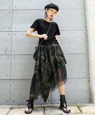 Urban Street Army Green Camouflage Black Rock Designer Punk Net Tu Skirt 8 10