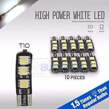 20X 6000K White T10 921 RV Trailer Interior SMD Light Bulbs
