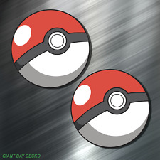 (2) TWO POKEMON Vinyl Decal Sticker For Car Laptop Skateboard NEW POKE BALLS GO!