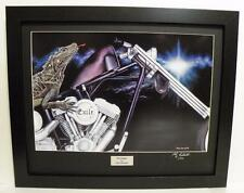 Exile Chopper Signed Ltd Edition Framed Motorcycle Art Print, Painting by John G