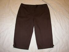 Dressbarn Stretch Capri Pants - Size 14 - Dark Brown