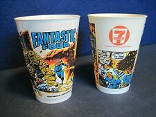 Vintage 7-11 Seven Eleven Slurpee Cups  1977 Fantastic Four - 2 cups