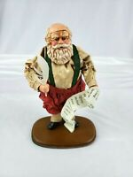 Vtg 1992 Alessandra Glass Fabric Mache Earth Santa Children Santa #210 of 2500