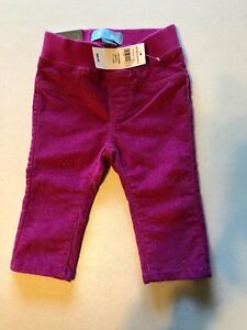 New Baby Gap Girl's 3-6 months Sparkle Pants Pull up Skinny Fit Pink