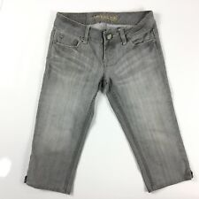 American Eagle Women's Size 0 Gray AE Atist Cropped Capri Jeans Stretch. Z