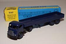 ± LION CAR DAF FRONTSTUUR TRUCK WITH TRAILER DARK BLUE NEAR MINT BOXED