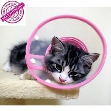 Small Pet Plastic Clear Cone Wound Recovery E-COLLAR Soft Edge Small Dogs & Cats