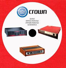 Crown Audio Repair Service owner manuals on dvd in pdf format
