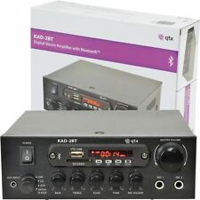 QTX KAD-2BT Digital Stereo Amplifier with Bluetooth 55w Tuner, USB & SD BNIB