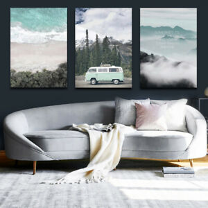 Nordic Natural Forest Travel Landscape Canvas Painting Printed Canvas Pictures
