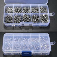 340 Pcs A2 Stainless Steel M3 Socket Button Hex Screws Assortment Kit W/Hex Nut