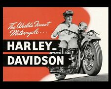 Vintage Harley Davidson Motorcycle PHOTO Poster Art Advertisement World's Finest