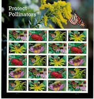 2017 Protect Pollinators Pane of 20 Forever Postage Stamps Scott 5228-32
