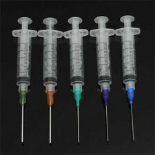 5pcs 5ml Plastic Syringe Crimp Sealed-Blunt Chemical Needle Tip For Glue Oil Ink