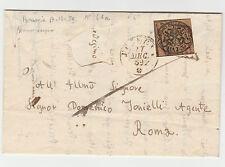 STORIA POSTALE 1859 STATO PONTIFICIO 3 BAJ PERUGIA 17/12 A/2939