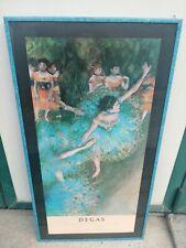 Degas Art Print Exhibition Poster the Green Dancer Framed (58 x 108 cm) 1988 Met