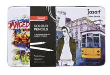 Jasart Studio Colour Pencil Sets 12/Tin - Adult Colouring - Similar to Derwent