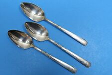 3 1881 Rogers Oneida Ltd Banbury Brookwood Silverplate Serving Spoons