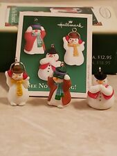 2005 Hallmark Keepsake Ornaments See No Humbug! set of 3 miniatures snowmen
