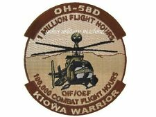 OH-58D Kiowa Warrior 100,000 Combat Flight Army Aviation Bell Helicopter Patch